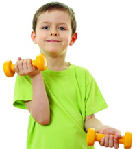 Kid Lifting Weights