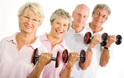 Seniors Lifting Weights