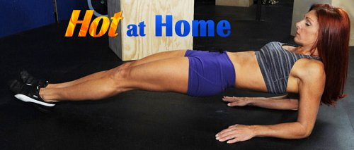 Jackie Back Plank with Logo - Hot at Home